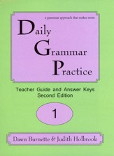 Daily Grammar Practice Grade 1 Teacher Guide