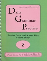Daily Grammar Practice Grade 2 Teacher Guide