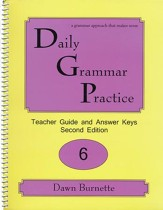 Daily Grammar Practice Grade 6 Teacher Guide (2nd Edition)