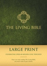 Living Bible: Large Print, Green Padded Hardcover