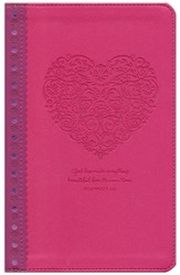 NLT Girls Life Application Study Bible, Pink Heart Imitation Leather