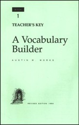 Answer Key for A Vocabulary Builder, Book 1, Grade 12