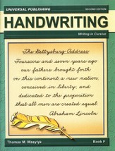 Cursive Writing-Book F, 2nd Edition Grade 5