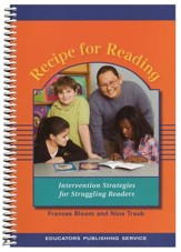 Recipe for Reading Manual, Revised Intervention Strategies for Struggling Readers (Homeschool Edition)