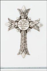 Remembrance, Pewter Wall Cross
