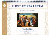 First Form Latin Teacher Manual for Workbook & Test Key  - Slightly Imperfect