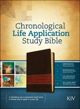 KJV Chronological Life Application Study Bible, Brown/Tan LeatherLike - Slightly Imperfect