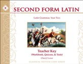Second Form Latin: Workbook & Test  Key