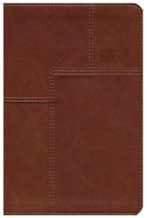 NLT Every Man's Bible Messenger Edition, Leatherlike