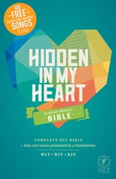 NLT Hidden in My Heart Scripture Memory Bible, Hardcover
