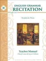 English Grammar Recitation Workbook  Three Teacher's Manual
