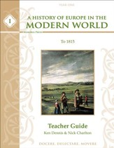 A History of Europe in the Modern World, Year 1 Teacher Guide