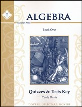 Algebra 1 Quizzes and Tests Key