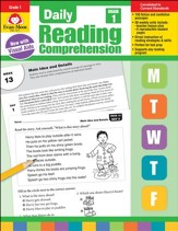 Daily Reading Comprehension, Grade 1  (2018 Revision)
