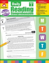 Daily Reading Comprehension, Grade 7  (2018 Revision)