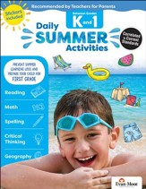 Daily Summer Activities, Moving From  Grades K to 1 (2018 Revision)