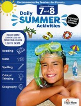 Daily Summer Activities, Moving From Grades 7 to 8 (2018 Revision)