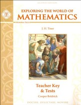 Exploring the World of Mathematics  Teacher Key &  Tests, Second Edition