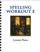 Spelling Workout E Lesson Plans
