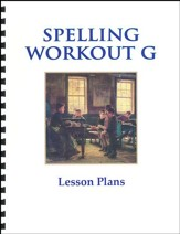Spelling Workout G Lesson Plans