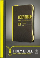 NLT Zips Bible, Canvas Cover with yellow zipper