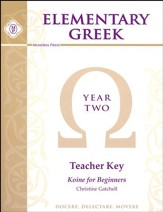 Elementary Greek Year 2 Teacher's Key (for Workbook and  Tests)