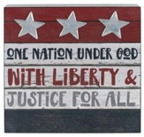 One Nation Under God Box Sign
