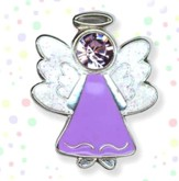 Guardian Angel Lapel Pin. Purple