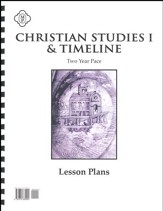 Christian Studies 1: 2 Year Pace Lesson Plans