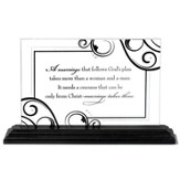 Marriage Takes Three Tabletop Plaque