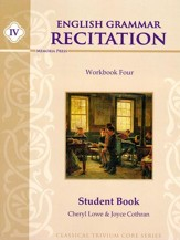 English Grammar Recitation Workbook  #4 Student Book