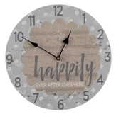 Happily Ever After Lives Here Clock