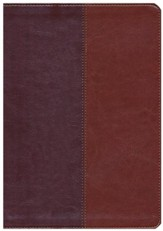 NLT Premium Slimline Reference Bible, Large Print TuTone Brown and Tan Imitation Leather, Indexed - Slightly Imperfect