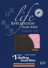 KJV Life Application Study Bible, Personal Size TuTone, Pink/Brown LeatherLike