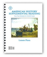 American History Supplemental Reading Lesson Plans: Four Year Schedule for 3rd-6th Grade