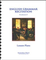 English Grammar Recitation 4 Lesson  Plans
