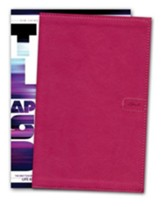 NLT Teen Life Application Study Bible, Compact Pink Love Leatherlike - Slightly Imperfect