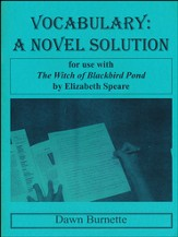 Vocabulary: A Novel Solution for use with The Witch of Blackbird Pond