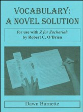 Vocabulary: A Novel Solution for use with Z for Zachariah