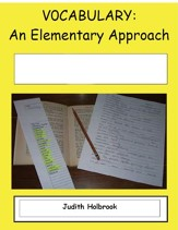 Vocabulary: An Elementary Approach for use with Sarah, Plain and Tall