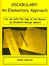 Vocabulary: An Elementary Approach for use with Sign of the Beaver