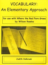 Vocabulary: An Elementary Approach for use with Stone Fox