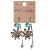 Flowers Faith Word Earrings