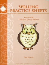 Traditional Spelling Book 1 Practice  Sheets