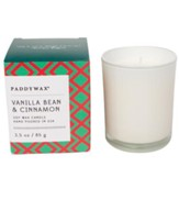 Glass Candle, Vanilla Bean and Cinnamon, 3 ounce