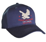 Soar on Wings Like Eagles Cap, Navy Blue