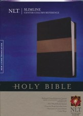 NLT Slimline Center Column Reference Bible, TuTone Black/Taupe LeatherLike