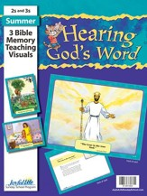 Hearing God's Word (ages 2 & 3) Bible Memory Verse Visuals