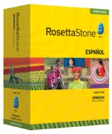 Rosetta Stone Latin American Spanish Level 1 & 2 Set with Audio Companion Homeschool Edition, Version 3