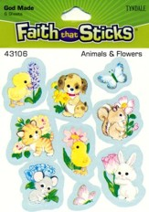 Stickers: Animals & Flowers